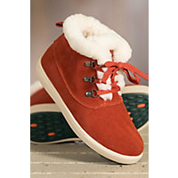 Women's Overland Ruby Shearling-Lined Suede Hi Top Shoes, RED