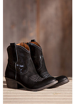 Women's Naya Sandy Western Leather Ankle Boots