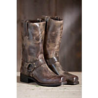 Men's Frye Harness 12R Leather Boots, Chocolate, Size 10 Western & Country