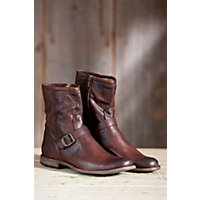 Men's Frye Phillip Zip Leather Boots, Dark Brown, Size 10 Western & Country