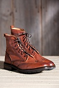 Men's Frye James Lug Wingtip Leather Boots