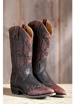 Men's Frye Billy Firebird Western Leather Overlay Boots
