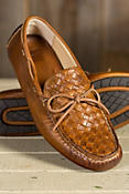 Men's Frye West Woven Driver Leather Slip-On Shoes
