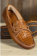 Men's Frye West Woven Driver Leather Shoes