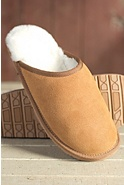 Men's Noah Shearling-Lined Leather Slippers