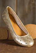 Women's Kork-Ease Nessa Metallic Leather Flats