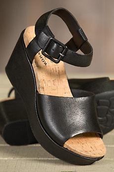 Women's Kork-Ease Kiern Leather Wedge Sandals