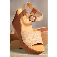 Women's Kork-Ease Kiern Leather Wedge Sandals, ETIOPE/NATURAL CORK, Size 8
