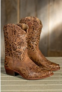 Women's Sonora Jessi Tooled Leather Boots