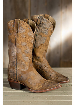 Women's Sonora Riley Rough-Out Leather Cowboy Boots