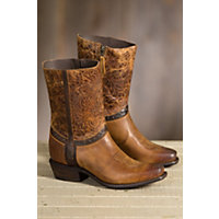 Women's Sonora Bailey Leather Cowboy Boots, LIGHT BROWN
