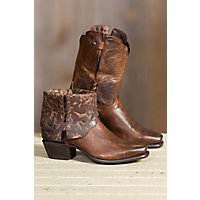 Women's Sonora Cassidy Leather Cowboy Boots, BROWN
