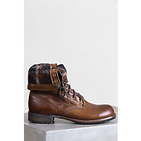 1940s Style Mens Shoes Mens Walk-Over Ian Fold-Over Leather Jump Boots CHOCOLATEPLAID Size 9 $315.00 AT vintagedancer.com