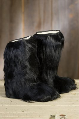 Women's Nora Long-Haired Goat Fur Boots