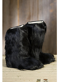 Women's Long-Haired Goat Fur Boots