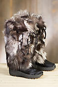 Women's Volpe Plus Shearling-Lined Fox Fur and Calfskin Leather Boots