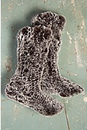Women's Knitted Rabbit Fur Slipper Socks