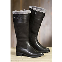 Women's Blondo Via Shearling-Lined Waterproof Leather Boots, BLACK