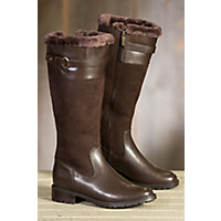 Women's Blondo Via Shearling-Lined Waterproof Leather Boots, CAFE