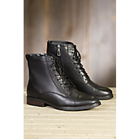 Mens Blondo Gregory Shearling Lined Leather Boots BLACK Size 10