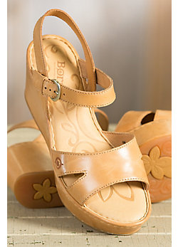 Women's Born Du Jour Leather Wedge Sandals