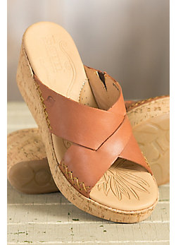 Women's Born Larina Leather Wedge Sandals