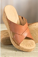 Women's Born Larina Leather Wedge Sandals