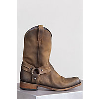 Mens Liberty Black Distressed Leather Harness Boots AMERICAN TAN DISTRESSED Size 13