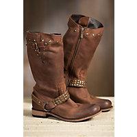 Women's Liberty Black Leather Cowboy Boots, VEGAS TMORO