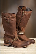 Women's Liberty Black Leather Cowboy Boots