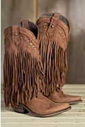Women's Liberty Black Buckskin Vegas Leather Cowboy Boots
