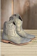 Women's Liberty Black American Metallic Leather Cowboy Boots