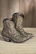 Women's Liberty Black Vintage Camo Leather Cowboy Boots