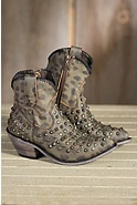 Women's Liberty Black Vintage Cheetah Leather Cowboy Boots