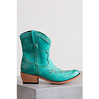 Women's Liberty Black Leather Cowboy Boot, MULAN TURQUOISE