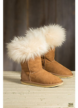 Women's Australia Luxe Collective Foxy Shearling Sheepskin Boots with Fox Fur Trim