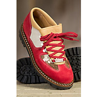 Women's Ammann Chueli Suede and Cowhide Shoes, RED/COWHIDE