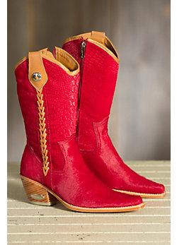 Women's Aledo Crocodile Embossed Calfskin Cowboy Boots
