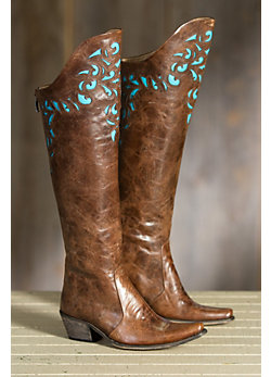 Women's Derby Over-the-Knee Leather Boots