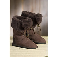 Women's Overland Freya Shearling Sheepskin Boots, CHOCOLATE