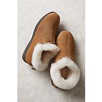 Women's Terra Shearling-Lined Cowhide Suede Slipper Shoes