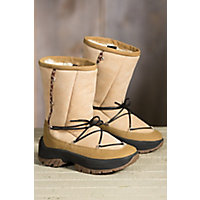Womens Ulu Crow Shearling Boots CANE Size 10