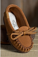 Children's Handmade Sueded Leather Moccasins