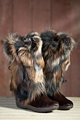 Women's Tecnica Yaghi III Cowhide Boots with Fox Fur Trim
