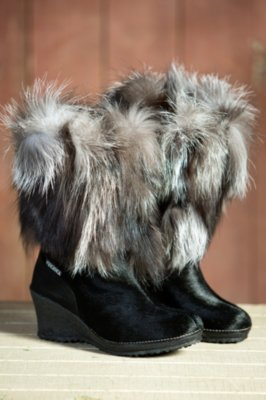 Women's Tecnica Innsbruck Cowhide and Fox Fur Boots