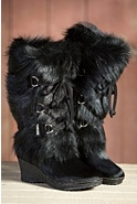Women's Tecnica Zermatt Cowhide and Goat Fur Boots