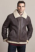 Men's Sheepskin B-3 Bomber Jacket