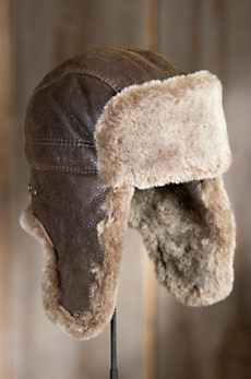Canadian Shearling Sheepskin Trapper Hat