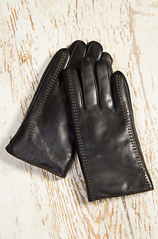 Men's Premium Lambskin Leather Gloves with Shearling Lining