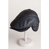 Allen Leather Ivy Cap, BLACK